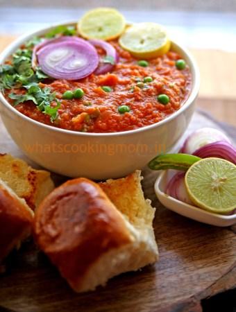 Pav Bhaji - Vegetarian Indian Street food made with lots of vegatables