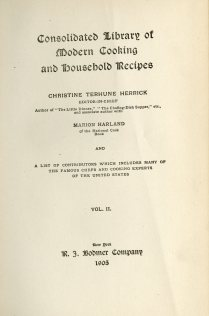 Consolidated Library of Modern Cooking and Household Recipes, 1905