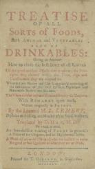 A treatise of all sorts of foods, both animal and vegetable, also of drinkables, title page