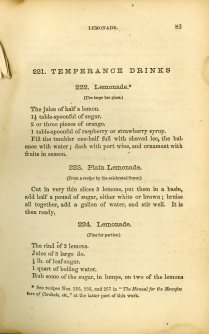 How to Mix Drinks, temperance drinks