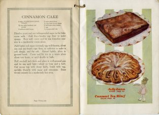 recipe for cinnamon cake; images of sally lunn and currant tea ring