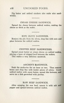 sample sandwich recipes