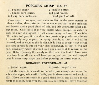 Popcorn Crisp and Sugared Popcorn, pg. 47