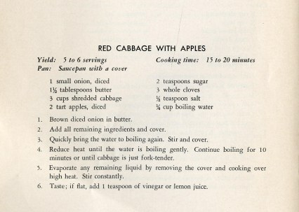 Recipe: Red Cabbage with Apples