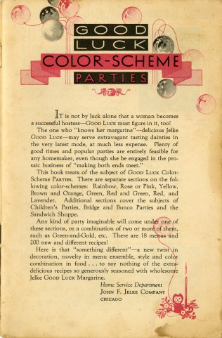 Good Luck Color Scheme Parties, 1931