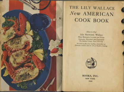 The Lily Wallace New American cook book, 1945