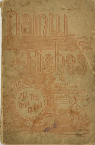 front cover of Dainty Dishes for All the Year Round, 1890