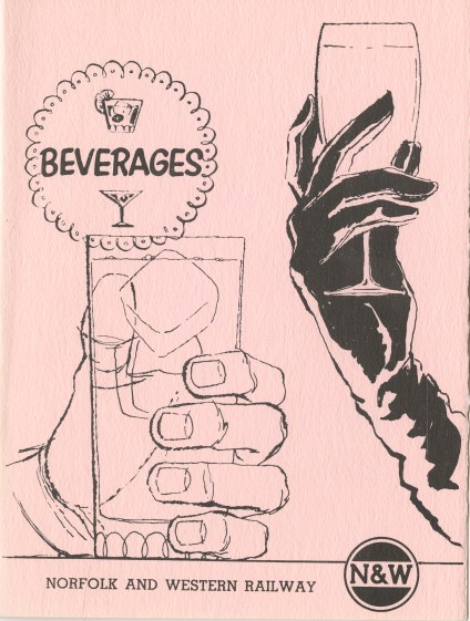 Beverage menu, front cover