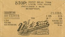 Envelope from OK seeds and other specialties, 1899