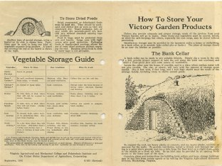 How to Store Your Victory Garden Products, 1943