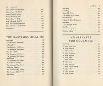Table of contents for How to Cook a Wolf and The Gastronomical Me