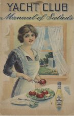 """Yacht Club Manual of Salads. This booklet is full of recipes that use """"Yacht Club salad dressing."""""""