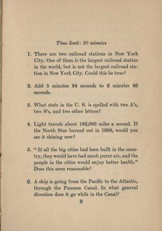 Mental Cocktails, 1933. Test #2 Page 1.