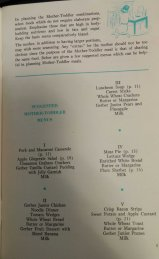 Mother-Infant Menus