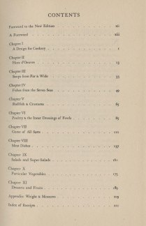 Table of contents, The Gentleman's Companion, Vol. 1, 1946