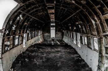 Inside Crashed C117 - Iceland