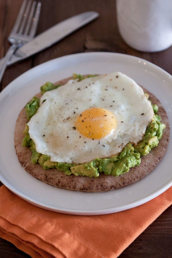 Avocado and Fried Egg Breakfast Pita