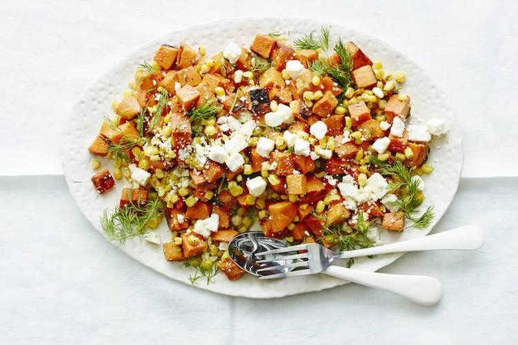 Sweetpotato Corn + Feta Salad