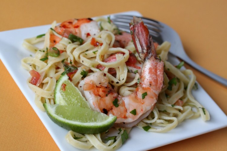 cheap meal ideas, cheap dinner recipes, mexican shrimp pasta