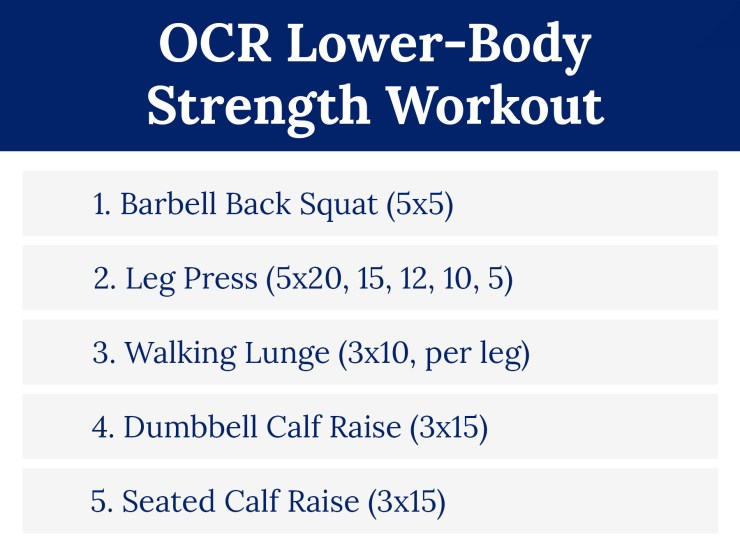 OCR Lower-Body Strength Workout
