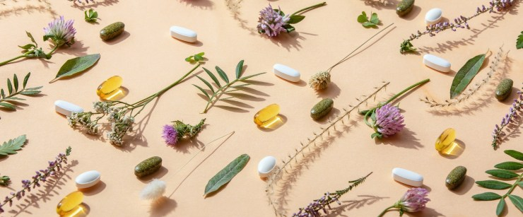 boost CBD: Herbal medicine or natural healing herbs supplements concept