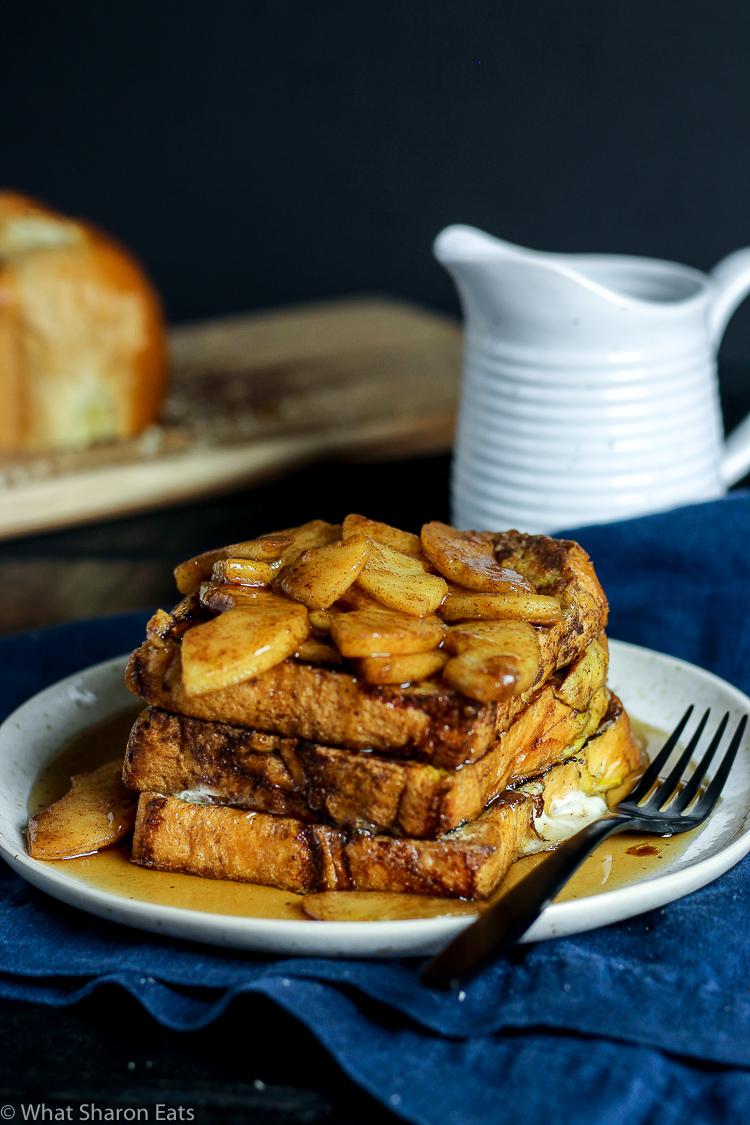 Apple Cinnamon Challah French Toast