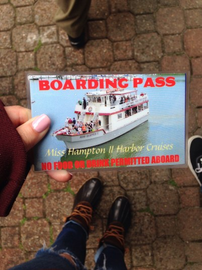Tour boat boarding pass