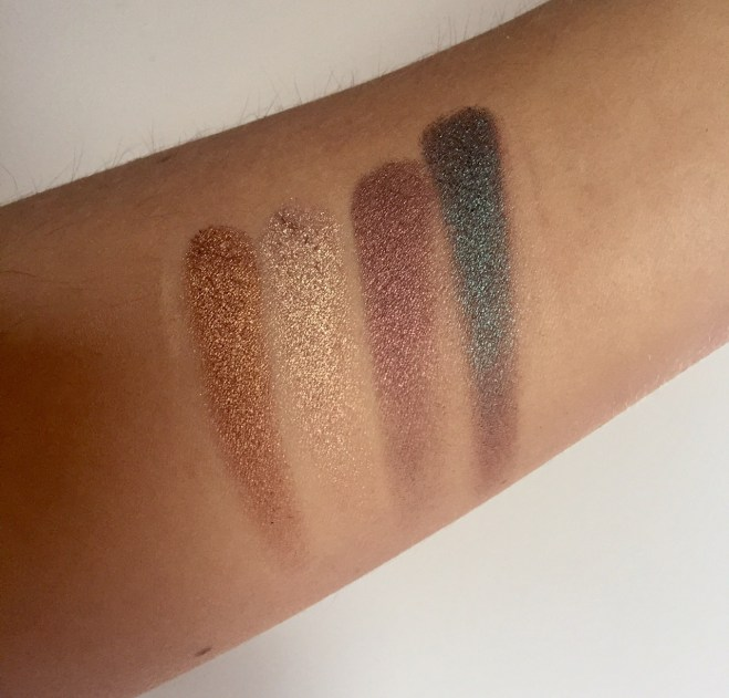 L-R: Ethereal; Glam; Minx; & Trendy, from Tarteist Pro