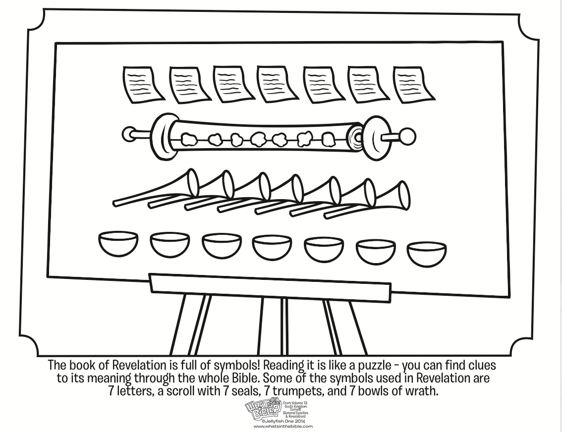 Symbols In Revelation Coloring Page