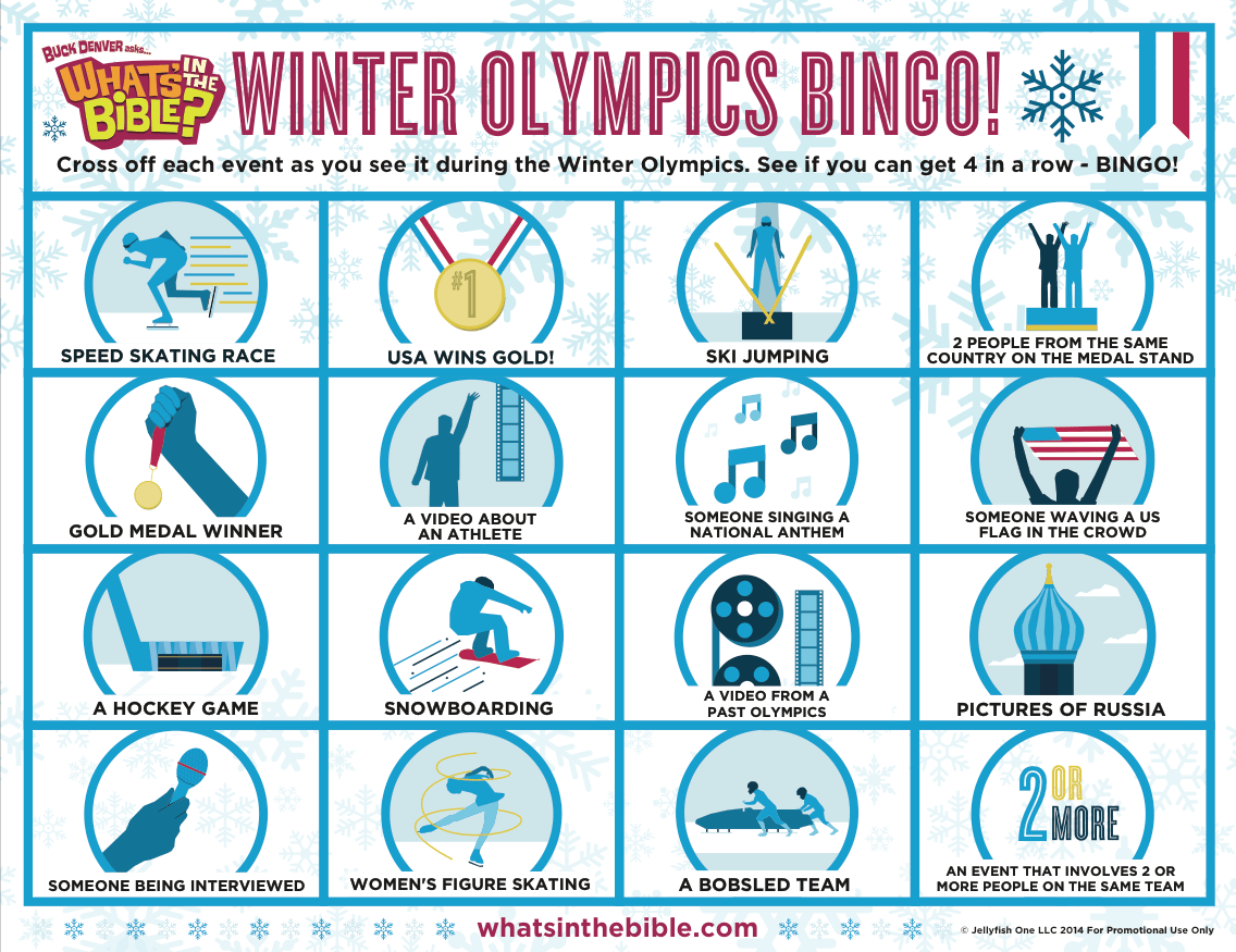 Free Winter Olympics Activities Coloring Page Amp Bingo
