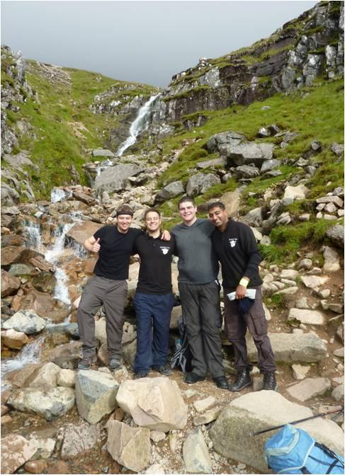 group waterfall