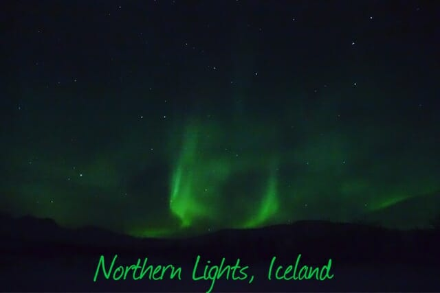 Iceland Northern Lights on What's Katie Doing? blog