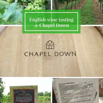 English wine tasting @ Chapel Down