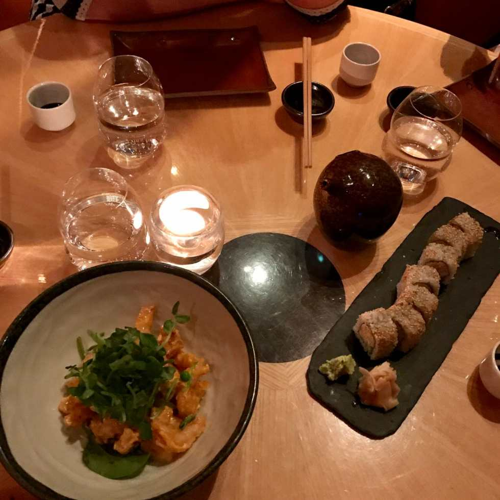 Girls dinner at Sushi Samba on What's Katie Doing? blog