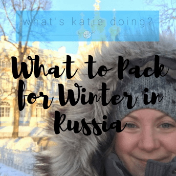 What to pack for Winter in Russia