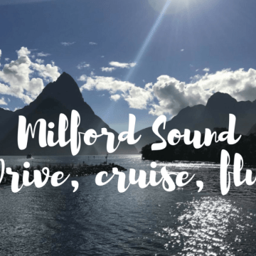 Milford Sound: Drive in, cruise around and fly out!