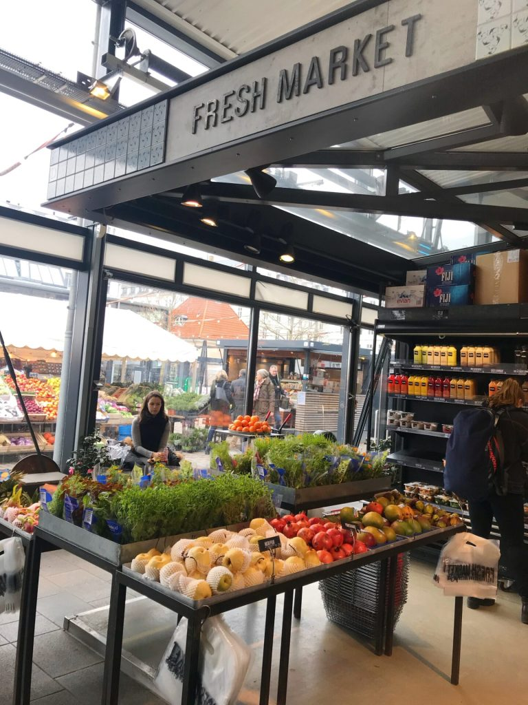 Fresh produce at the food hall