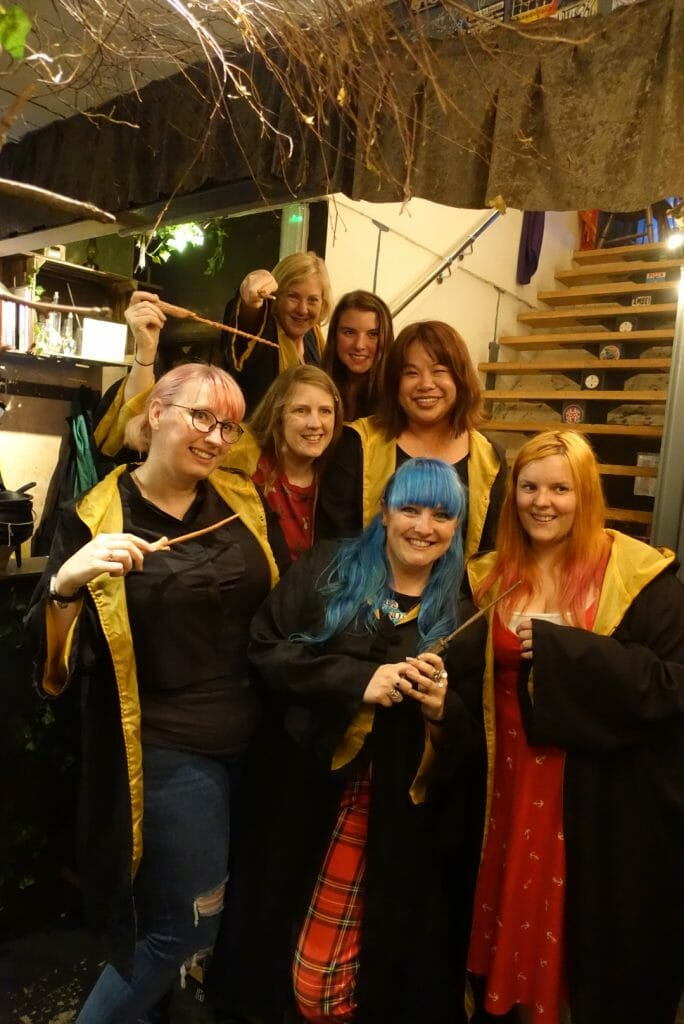 The Love Pop Ups London gang in our wizard gowns