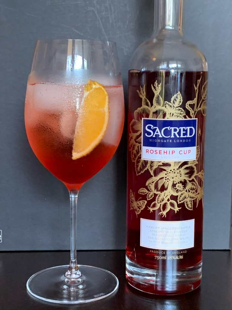 Sacred Rosehip Cup and spritz