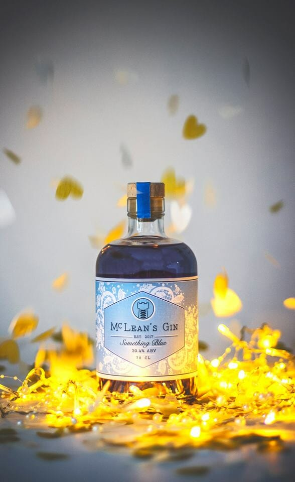 Something Blue gin with confetti
