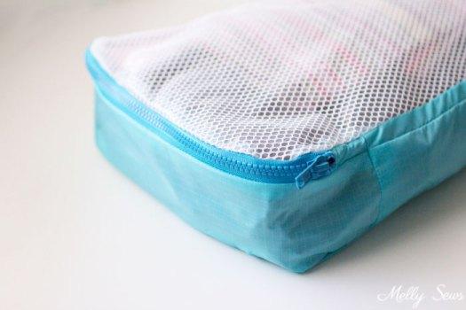 Accessoires de voyage à coudre - cubes d'emballage