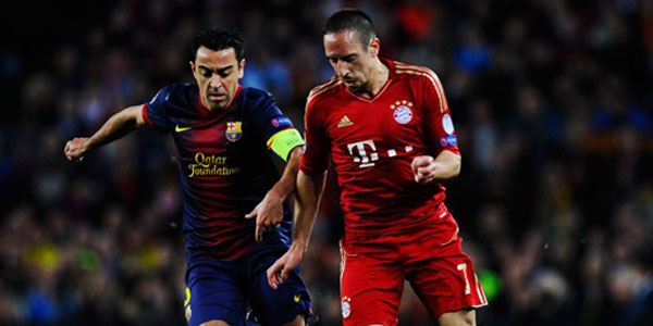 Xavi and Ribery