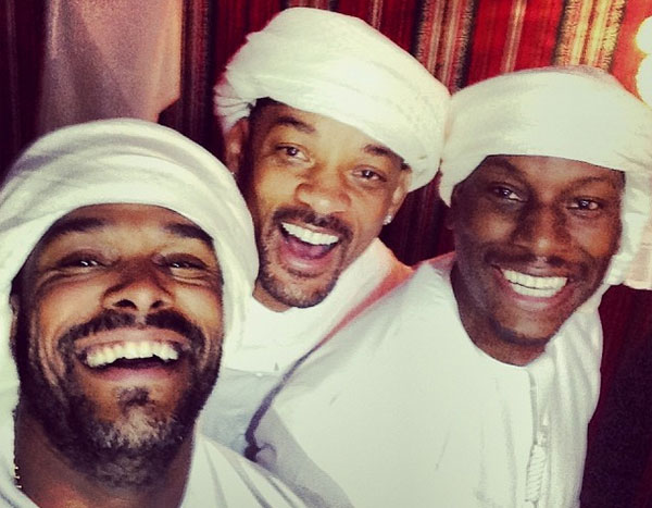 Tyrese shared pictures of him, Will Smith and Maxwell hanging out in traditional dress
