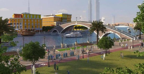 Dubai Canal - how it will look