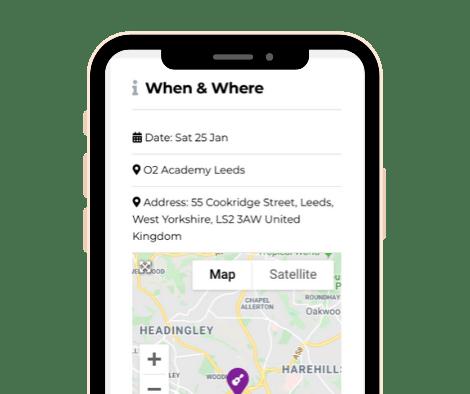 Smartphone Hub Screenshot - Listing Location Map