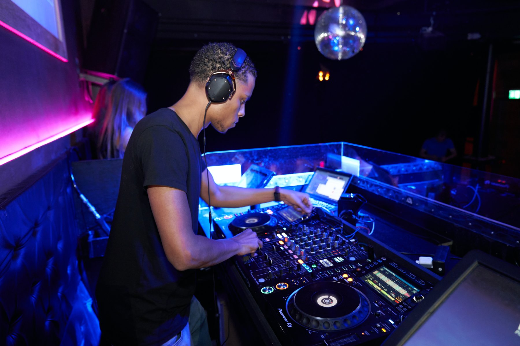 A DJ At An Electronic Music Gig