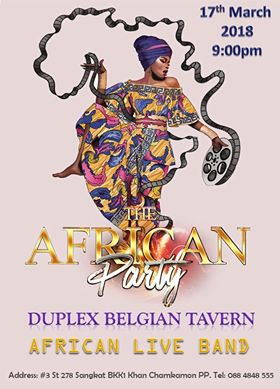 African Dance Party @ Duplex – WHAT'S ON PHNOM PENH