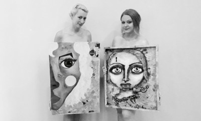 Artists Marika Els and Emily Marques