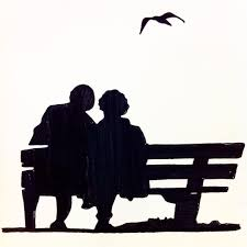 pinterest old couple on bench