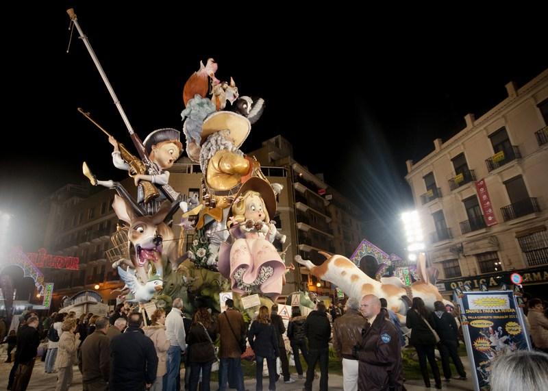 Las Fallas Festival Valencia in March